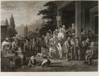 THE COUNTY ELECTION. George Caleb Bingham, John Sartain