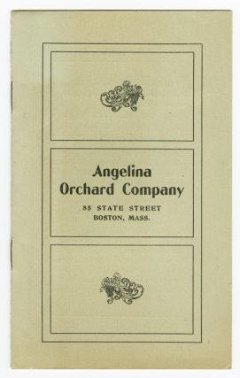 ANGELINA ORCHARD COMPANY [wrapper title]. Texas Agriculture