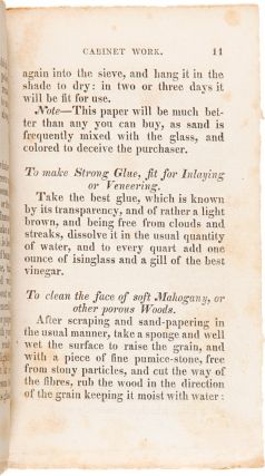 THE CABINET-MAKER'S GUIDE: OR RULES AND INSTRUCTIONS IN THE ART OF VARNISHING, DYING, STAINING, JAPANNING, POLISHING, LACKERING AND BEAUTIFYING WOOD, IVORY, TORTOISE-SHELL AND METAL. WITH OBSERVATIONS ON THEIR MANAGEMENT AND APPLICATION.