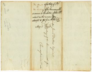[AUTOGRAPH LETTER, SIGNED, FROM HILARY BAKER, THE MAYOR OF PHILADELPHIA, TO ALEXANDER JAMES DALLAS, SECRETARY OF THE COMMONWEALTH OF PENNSYLVANIA, REGARDING DEFENSIVE PREPARATIONS AHEAD OF THE QUASI-WAR WITH FRANCE].