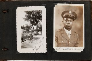 ANNOTATED VERNACULAR PHOTOGRAPH ALBUM KEPT BY AN AFRICAN-AMERICAN WOMAN FROM WASHINGTON, D.C.,...