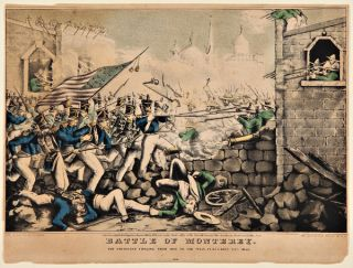 BATTLE OF MONTEREY. THE AMERICANS FORGING THEIR WAY TO THE MAIN PLAZA, SEPTEMBER 23RD 1846....