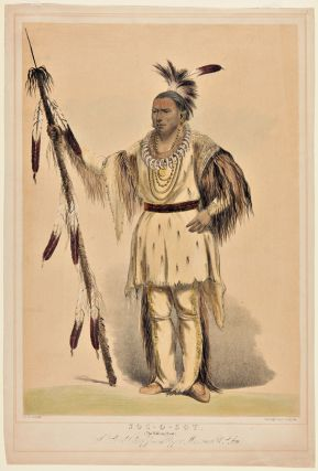 JOC-O-SOT, THE WALKING BEAR, A SAUK CHIEF FROM THE UPPER MISSOURI. George Catlin