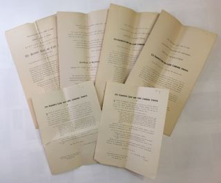 COLLECTION OF SIX DOCUMENTS RELATING TO THE HANSFORD LAND AND CATTLE COMPANY]. Hansford Land,...
