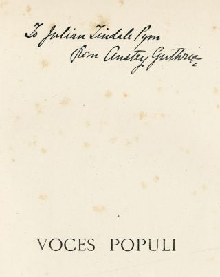 "VOCES POPULI [REPRINTED FROM ""PUNCH""]... WITH TWENTY ILLUSTRATIONS BY BERNARD J. PARTRIDGE. F...."