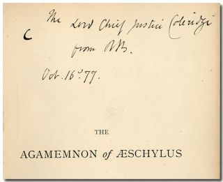 THE AGAMEMNON OF AESCHYLUS. Robert Browning
