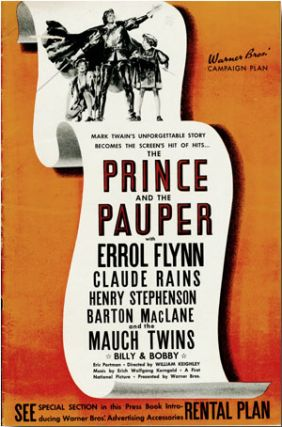 Original Studio Publicity Campaign Pressbook for THE PRINCE AND THE PAUPER. Samuel L. Clemens