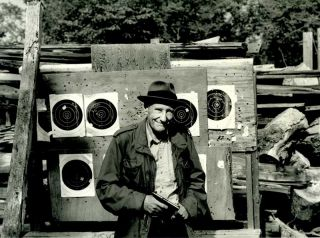 ORIGINAL PHOTOGRAPHIC PORTRAIT OF WILLIAM BURROUGHS, INSCRIBED BY THE PHOTOGRAPHER. William S....
