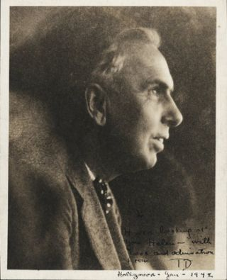 Original Inscribed Portrait Photograph]. Theodore Dreiser