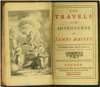 THE TRAVELS AND ADVENTURES OF JAMES MASSEY. TRANSLATED FROM THE FRENCH. Simon Tyssot de Patot.