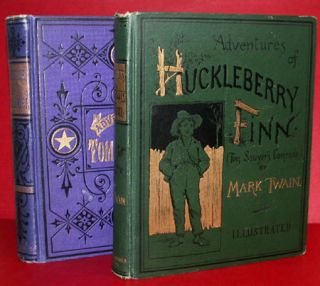 "ADVENTURES OF HUCKLEBERRY FINN (TOM SAWYER'S COMRADE). By ""Mark Twain"" [pseud]. Samuel L. Clemens"