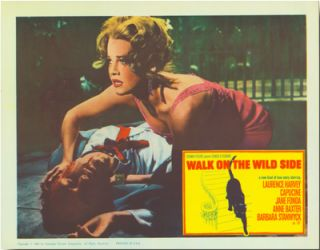 Group of Seven Color Lobby Cards:] for WALK ON THE WILD SIDE. Nelson Algren, John Fante,...