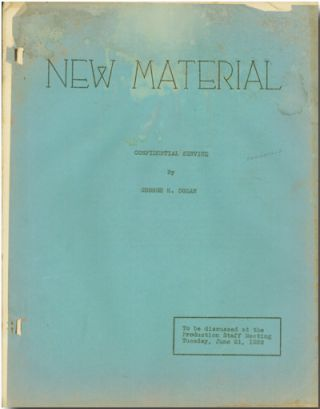 NEW MATERIAL CONFIDENTIAL SERVICE [wrapper title]. George M. Cohan