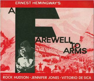Original Studio Publicity Campaign Pressbook for A FAREWELL TO ARMS. Ernest Hemingway