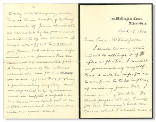 Autograph Letter, Signed, About Joan of Arc]. Samuel L. Clemens