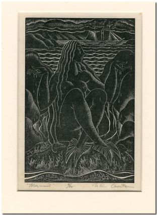 MERMAID [Original Woodcut]. John Austen