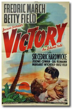 Original studio one-sheet poster for:] VICTORY AN ISLAND TALE. Joseph Conrad