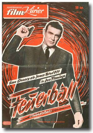 ILLUSTRIERTER FILM KURIER. ... FEUERBALL (THUNDERBALL). Ian Fleming