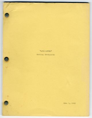 Four post-production scripts for:] SPELLBOUND. Alfred Hitchcock, Ben Hecht, director, screenwriter