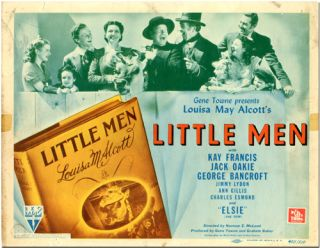 Original Studio Lobby Title Card for:] LITTLE MEN. Louisa M. Alcott, sourcework