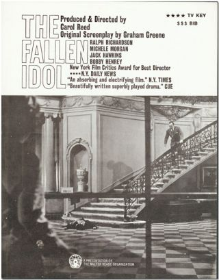 [Group of Five Studio Publicity Stills for:] THE FALLEN IDOL.