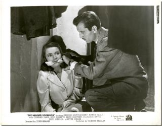 Three Original Publicity Stills for:] THE BRASHER DOUBLOON. Raymond Chandler