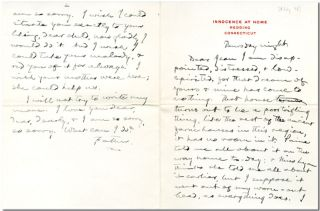 "Original Autograph Letter, Signed (""Father""), to His Daughter, Jean Clemens]. Samuel L. Clemens"