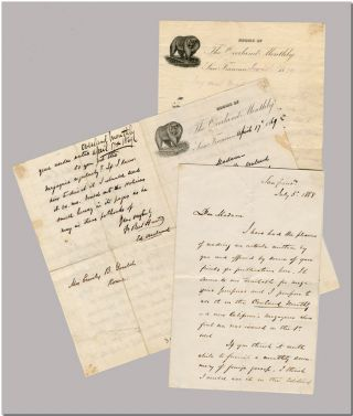 "Three Autograph Letters, Signed (One Solely As ""The Editor""), to Emily B. Gould, with Annotated..."