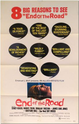 Original Studio One Sheet Publicity Poster for:] END OF THE ROAD. John Barth, Terry Southern,...