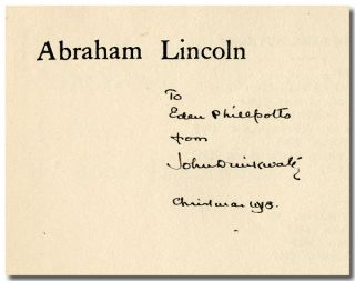 ABRAHAM LINCOLN A PLAY. John Drinkwater