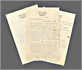 Two Original Autograph Letters, Signed, to Harold J. Massingham]. John Collier