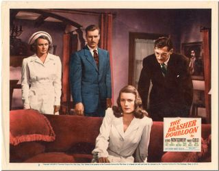 Vintage Original Color Lobby Card for THE BRASHER DOUBLOON. Raymond Chandler