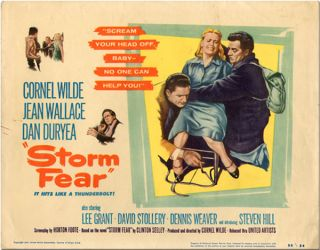 Set of Eight Studio Lobby Cards for STORM FEAR. Horton Foote, screenwriter