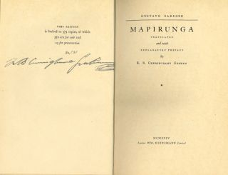 MAPIRUNGA ... WITH EXPLANATORY PREFACE. Gustavo Barroso, R. B. Cunninghame Graham, trans