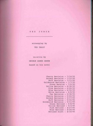 THE JUROR SCREENPLAY BY ... BASED ON THE NOVEL BY ....