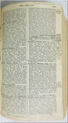 "WHO'S WHO 1918. AN ANNUAL BIOGRAPHICAL DICTIONARY WITH WHICH IS INCORPORATED ""MEN AND WOMEN OF..."