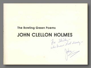 THE BOWLING GREEN POEMS. John Clellon Holmes