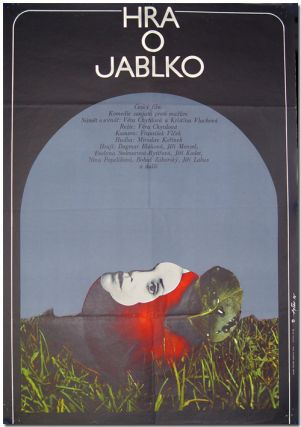 Original Czechoslovakian Poster for:] HRA O JABLKO [THE APPLE GAME]. Jaroslav Fiser, artist