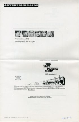 Original Studio Pressbook for:] THE LAST PICTURE SHOW. Larry McMurtry, sourcework