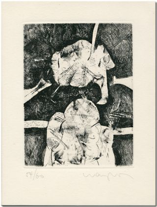ORIGINAL UNTITLED MONOCHROME ETCHING]. Juan Carlos Langlois