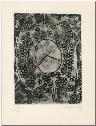 ORIGINAL UNTITLED MONOCHROME ETCHING]. Philippe Hiquily