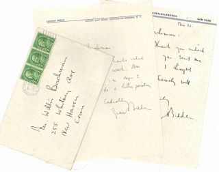 Two Autograph Letters, Signed]. George Biddle, 1885 - 1973