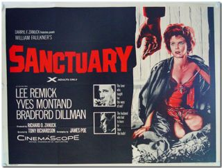 Original British Quad Poster for:] SANCTUARY. William Faulkner, James Poe, sourcework, screenwriter