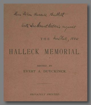 A MEMORIAL OF FITZ-GREENE HALLECK: A DESCRIPTION OF THE DEDICATION OF THE MONUMENT ERECTED TO...
