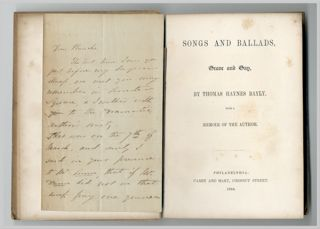 SONGS AND BALLADS, GRAVE AND GAY ... WITH A MEMOIR OF THE AUTHOR. Nathaniel Thomas Haynes Bayly