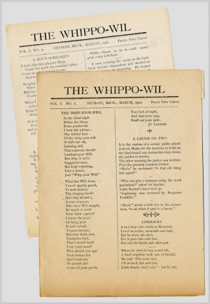 THE WHIPPO-WIL [Whole numbers 1 & 4]. ed, publisher