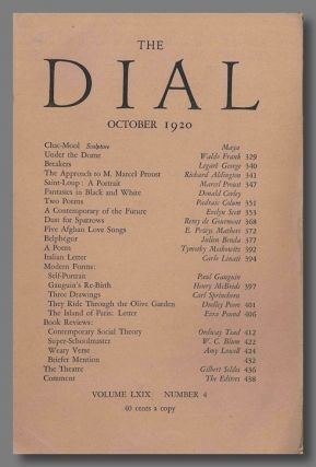 """Dust For Sparrows,"" contained in THE DIAL. Ezra Pound, trans"
