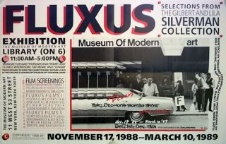 FLUXUS SELECTIONS FROM THE GILBERT AND LILA SILVERMAN COLLECTION ... [caption]. Fluxus, Yoko Ono