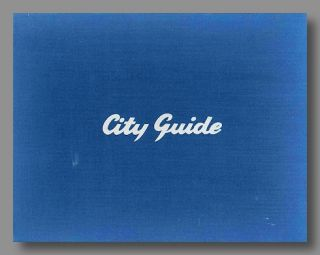 CITY GUIDE [cover title].