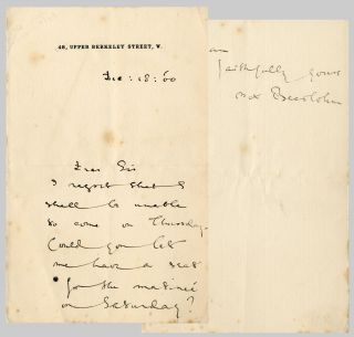 Autograph Letter, Signed]. Max Beerbohm